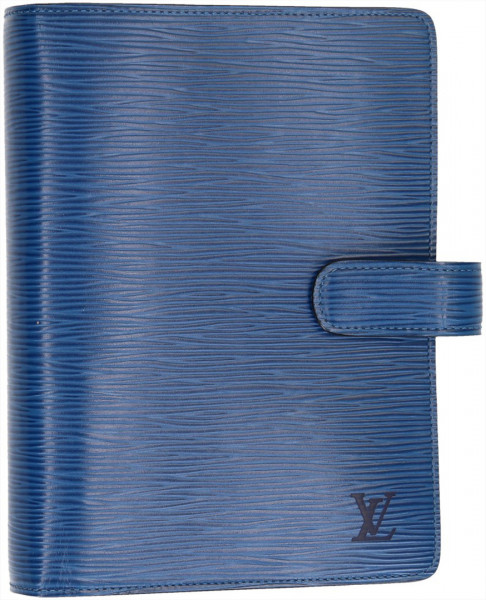 LOUIS VUITTON AGENDA FONCTIONNEL MM AUS EPI LEDER IN TOLEDO BLAU