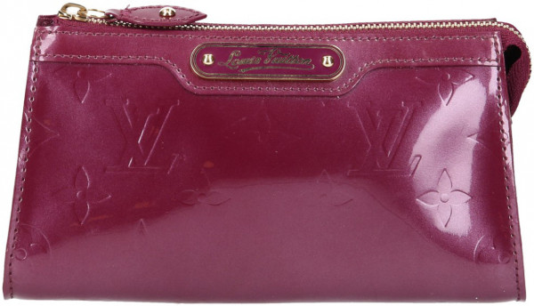 LOUIS VUITTON TROUSSE COSMETIQUE CLUTCH AUS MONOGRAM VERNIS LEDER IN VIOLETTE