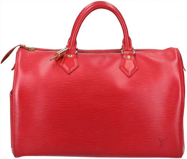 LOUIS VUITTON SPEEDY 30 HENKELTASCHE AUS EPI LEDER IN ROUGE ROT