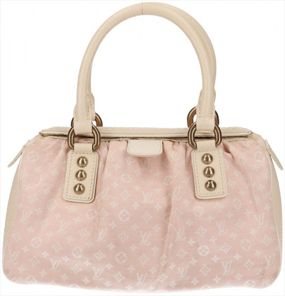 LOUIS VUITTON TRAPEZE PM HENKELTASCHE AUS MONOGRAM MINI LIN CANVAS IN ROSE