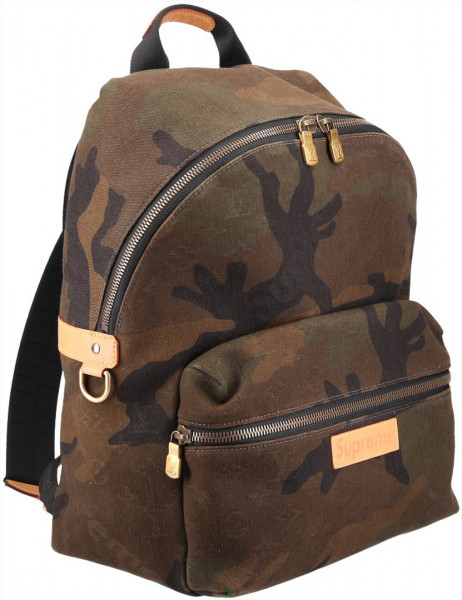 LOUIS VUITTON X SUPREME APOLLO RUCKSACK AUS MONOGRAM CAMOUFLAGE DENIM CANVAS