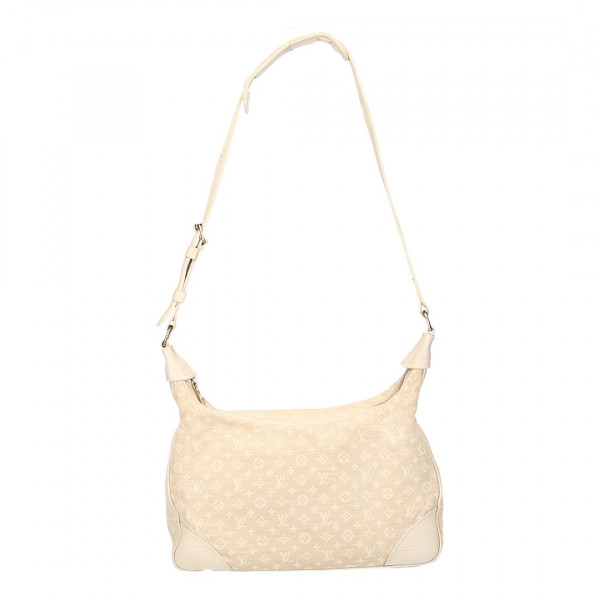 LOUIS VUITTON BOULOGNE SCHULTERTASCHE AUS MONOGRAM MINI LIN CANVAS IN DUNE
