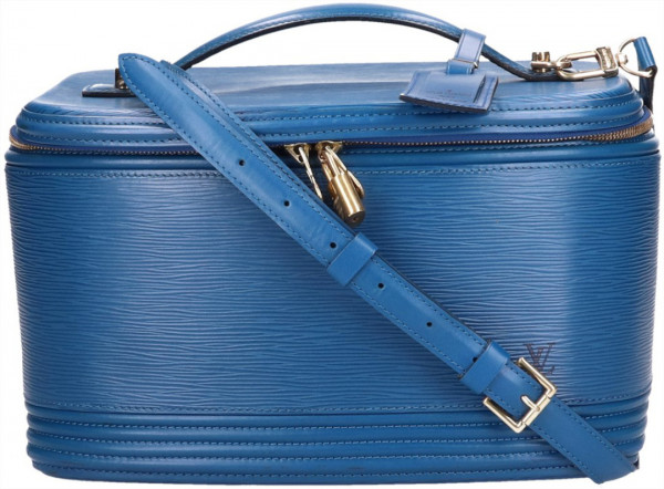LOUIS VUITTON NICE BEAUTY CASE AUS EPI LEDER IN TOLEDO BLAU