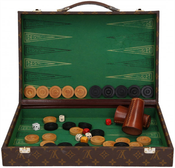 LOUIS VUITTON BACKGAMMON KOFFER AUS MONOGRAM CANVAS